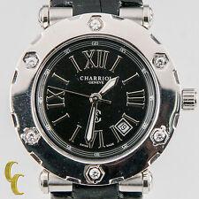 CHARRIOL Acciaio Inox DONNA colvmbvs quarzo orologio con / diamante incastonato