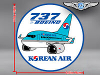 KOREAN AIR KAL ROUND PUDGY BOEING B737 B 737 DECAL / STICKER