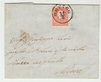 STORIA POSTALE - 1860 LOMBARDO VENETO 5 SOLDI ROSSO II° TIPO ROVIGO 24/8 E/5991