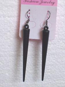Sexy Black Spike Clip-on Earrings