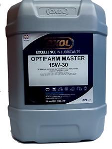 EXOL PREMIUM SUPER UNIVERSAL TRACTOR OIL 15W30 20 L QUALITY BRITISH BRAND NAME