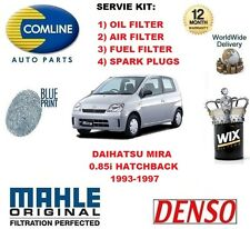 FOR DAIHATSU MIRA 0.85 1993-1997 OIL AIR FUEL FILTER + SPARK PLUGS SERVICE KIT