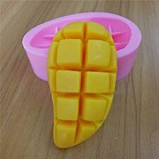 2016 Mango fruit soap silicone mold soap molds 3D decorating mango soap mold