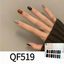 1pc Mixed Colors Beauty Nail Art Tips New Stickers Shiny Full Cover waterproof