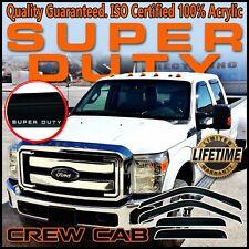 1999-2016 F250 F350 F450 Super Duty Crew Cab Window Vent Guard Deflectors Visors