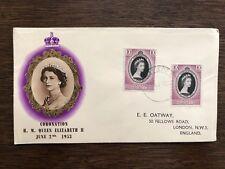 1953 First Day Cover Coronation Pf Queen Elizabeth II Malaya - Malacca
