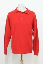 ERMENEGILDO ZEGNA Men's Yachting Red Long Sleeve Jumper Sweater IT50 UK40