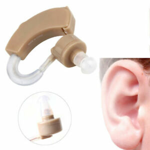 High Quality Mini Digital Hearing Aid Behind-ear Sound Amplifier Adjustable+cell