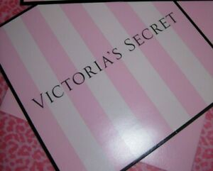 VICTORIA'S SECRET STRIPED PINK GIFT BOX Small or Medium