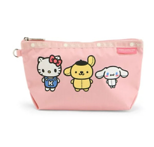 Hello Kitty x LeSportsac Sloan Cosmetic Pouch Sanrio Pink from Japan