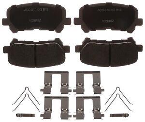 Disc Brake Pad Set-Ceramic Disc Brake Pad Rear ACDelco Advantage 14D1281CHF1