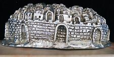 LARGE 925 STERLING silver WAILING Wall sculpture marble base