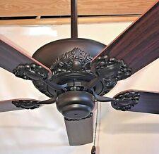 """52"""" ORB oil rubbed bronze ceiling fan no light va"""