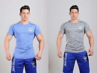 MET-X Mens T Shirt  Tech Short Sleeve Training Gym Sport Tee Muscle Fitness