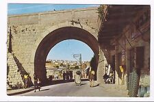 ISRAEL, SAFAD ,ַTHE BRIDGE AT THE WAY TO THE ARTISTS COLONY, A USED  PC, 1962