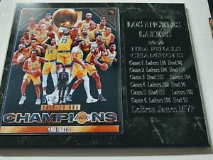 Los Angeles Lakers 2020 Champions statistics plaque