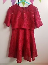6 year old girls sparkly red party dress