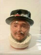 "!Vintage Royal Doulton Character Jug: Beefeater D6806 Tiny 1 1/2"" 1988 Rdicc"