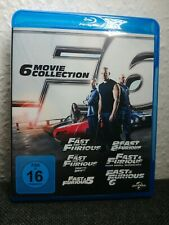 The Fast and the Furious - 6 Movie Collection Blu-ray Box Teil 1-6