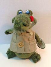 "Aussie Born Plush Crocodile w/ Vest 7"" Stuffed Animal Toy Croc Hang Tag Attached"