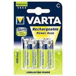 2x Varta 56714 Akku-Batterie Baby Gr. C Power Accu NEU