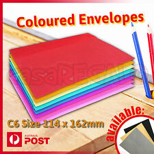 Coloured Envelopes Party Wedding Invitation Red Pink Blue Green Yellow C6 25pcs