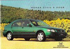 Honda Civic 5 Door  Brochure1995 1.4i 1.5i VTEC-E 1.6iLS 1.6i SR VTEC-SOHC