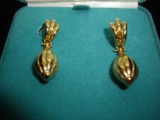 Love 14kt Eterna Gold Large Dangle Drop Earrings 4.07 Grams NEW 1.5 Inch Pierce
