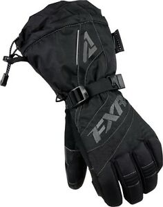FXR WOMENS FUSION BLACK/CHARCOAL COLD WEATHER SNOWMOBILE GLOVES -  SIZE XL - NEW