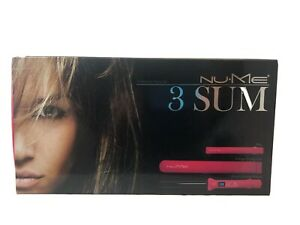 Nume 3 Sum Curling Iron And Flat Iron/straightener Set, New Condition In Box