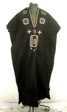 VINTAGE ANTIQUE AFRICA ETHNIC TRIBAL EMBROIDERED WOOL TUNIC