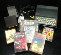 Vintage Sinclair ZX81 Computer, 16K Ram Pack, Keyboard, stand, games, leads