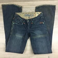 Stitch's Sioux Boot Cut Distressed Womens Jeans Size 25 Actual W27 NWOT (FF14)
