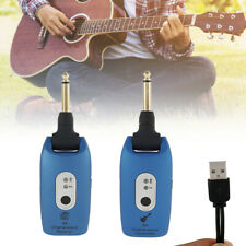 Wireless Guitar System 2.4GHZ Rechargeable 6 Channels Audio Transmitter Receiver
