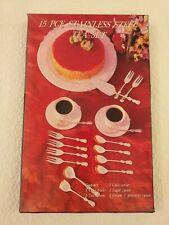 RETRO 15 PIECE BOXED  STAINLESS STEEL  TEA / CAKE CUTLERY SET - AA 3839
