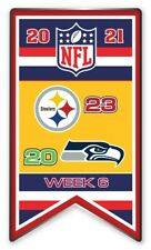 2021 Semaine 6 Bannière Broche NFL Steelers Vs.Seattle Seahawks Super Bol
