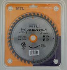 190mm dia. x 40T x 30mm bore MTL brand TCT Circular Saw Blade for Wood cutting