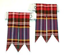 Kilt Flashes Tartan Fraser robe laine peignée Tuyau chaussette made in Scotland Gents