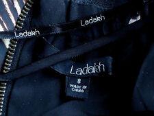 LADAKH FauxSilkVeiledFauxLeatherPanelledStrapless Size8