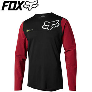 Fox Attack Pro Long Sleeve Cycling Jersey - Red/Black