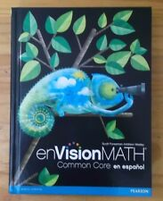 Pearson enVision Math Common Core en espanol 4th Grade Text Book Spanish
