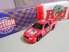 "#50 Budweiser Monte Carlo ""Louie the Lizard"" Die Cast Car / Bank 1/24 Action"