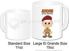 Personalised Army Soldier Camouflage Cadet Coffee Large Gift Mug 15oz (Design 1)