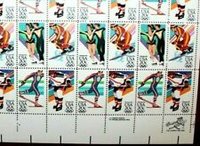 1984 20c 14th Winter Olympic Games Full Sheet of 20 Stamps #2067-70