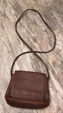 Vintage Nine West Small Mini Brown Leather Cross-Body Bag Purse