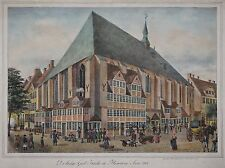 Hamburg-la santa iglesia espíritu... Anno 1800-Suhr-originale litografía