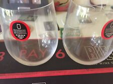 SET OF EIGHT 8 PRETTY RIEDEL WINE COMPANY VIOGNIER/CHARDONNAY STEMLESS GLASSES