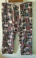 American Eagle Outfitters Men's Size Medium M Plaid Madras Pajama Pants FLAW