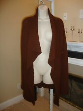 GORGEOUS NEW $1,995 LONG CASHMERE OPEN SWEATER / TUNIC BY DONNA KARAN