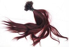 Strähnen indisches Remy Echthaar Haarverlängerung great 50cm hair lenght weinrot